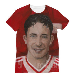 Legends Of Anfield Painting - Robbie Fowler All-Over Print Sublimation T-Shirt - Legends of Anfield Painting