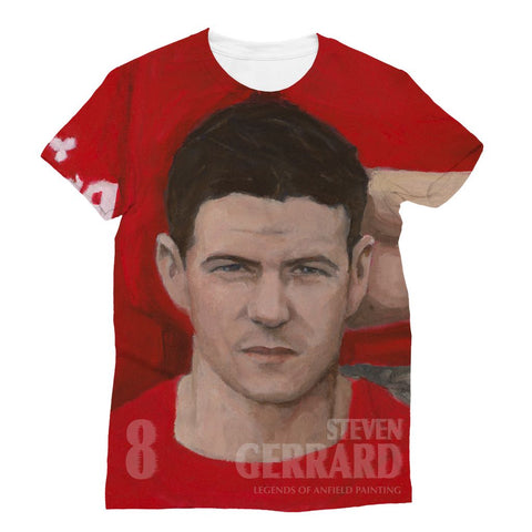 Legends Of Anfield Painting - Steven Gerrard All-Over Print Sublimation T-Shirt - Legends of Anfield Painting