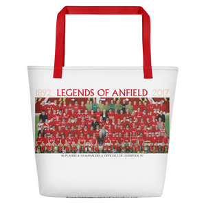 Legends Of Anfield Painting Beach Bag