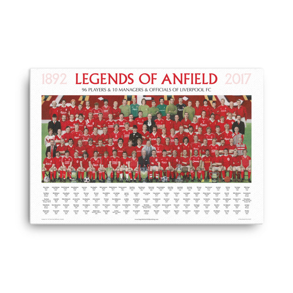 "Legends Of Anfield Painting - Canvas Prints - 3 Sizes Up To 24""x36""."