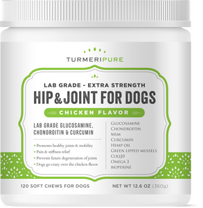 Lab Grade Glucosamine Chondroitin with Curcumin for Dogs