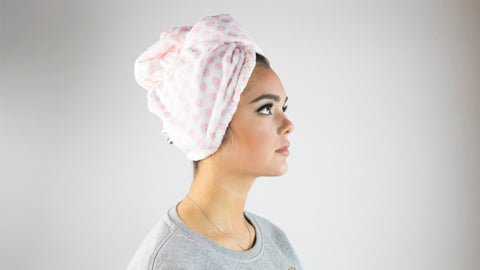 Woman in The Vintage Cosmetic Company Hair Turban