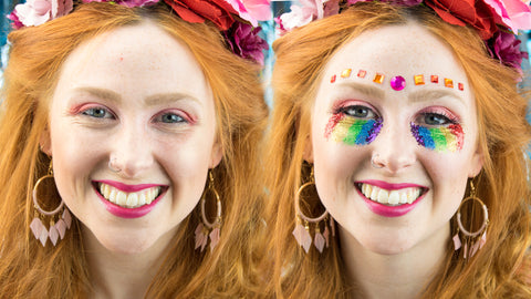 Carnival Festival Look with Kitty Lashes