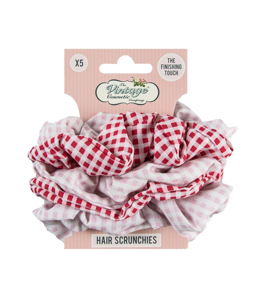 gingham scrunchies on card