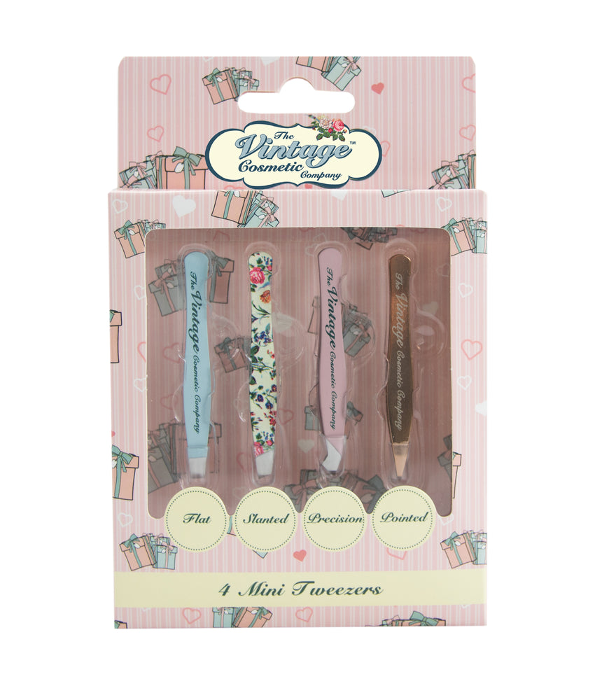 4 piece mini tweezer in christmas packaging