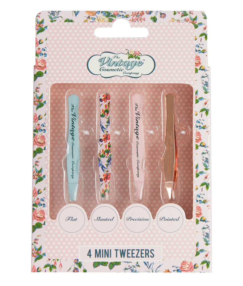4 piece mini tweezer set packaging