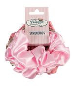 5 piece satin scrunchie set packaging