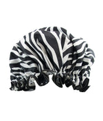 Zebra Print Shower Cap
