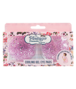 cooling gel eye pads in pink glitter packaging