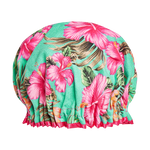 Hula Tallulah Tropical Shower Cap Seafoam