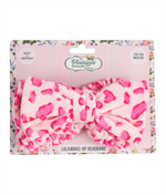 lola make-up headband pink leopard print packaging