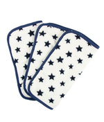 make-up removing cloths white with navy star