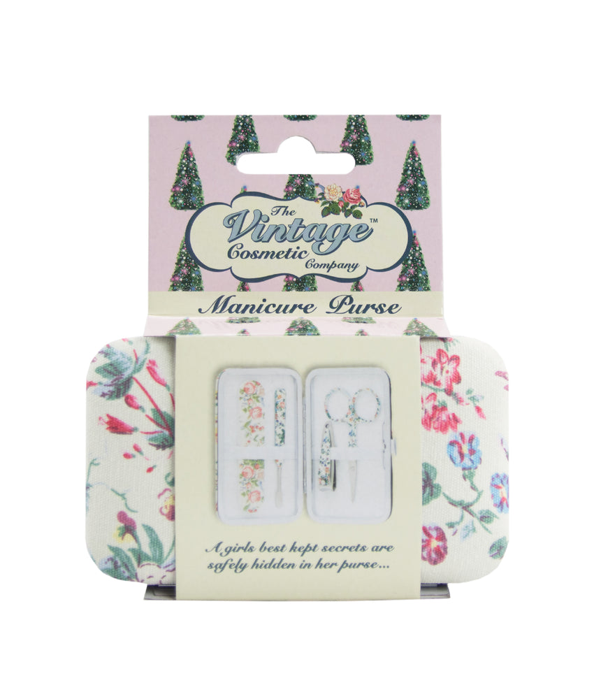 floral manicure purse in christmas packaging