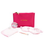 on cloud 9 gift set sleep mask tweezer make-up removing cloth bade mirror and zip pouch bag