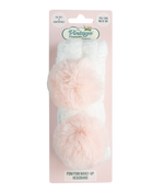 Pom Pom Make-up Headband pink and white