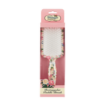 Rectangular Paddle Hair Brush Floral packaging