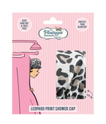 shower cap leopard print packaging