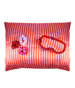 Sleeping beauty set candy stripe pillowcase sleep mask and scrunchies