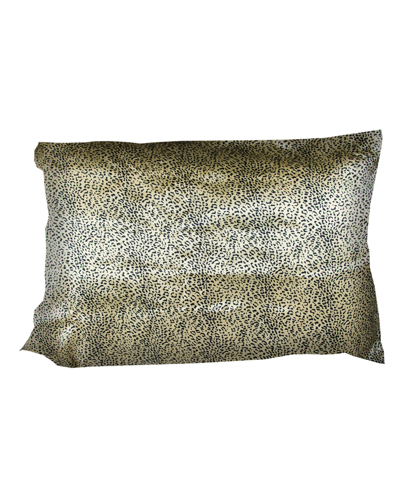 sweet dreams satin pillow case in jaguar print