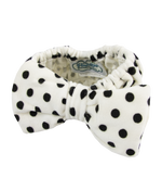 wendy make-up headband white with black polka dots