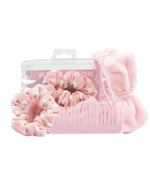 Wet hair kit wide tooth comb scrunchie and makeup headband