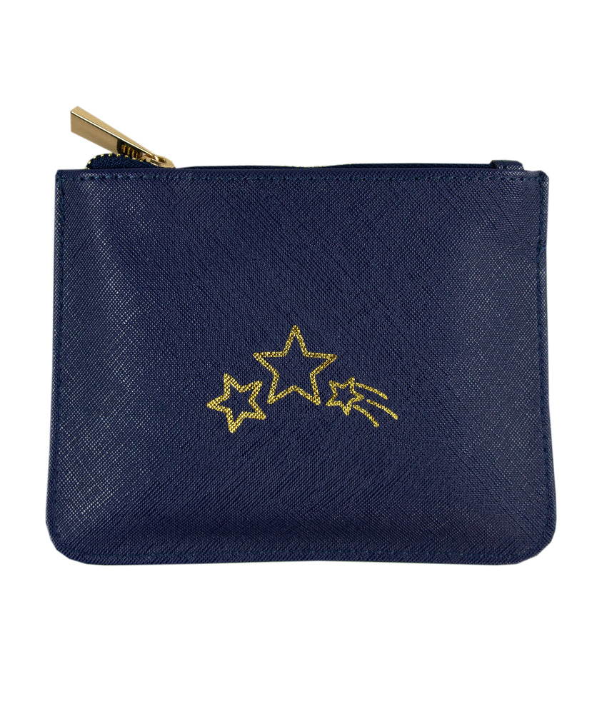 wish upon a star zip pouch bag back