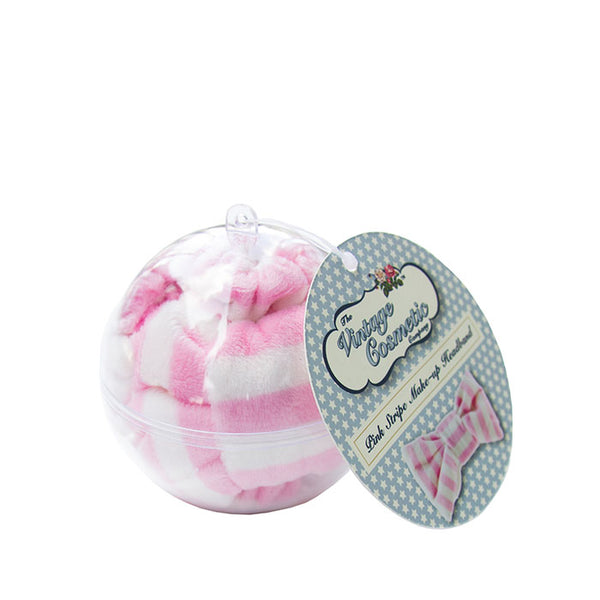 Pink Stripe Make-up Headband Bauble