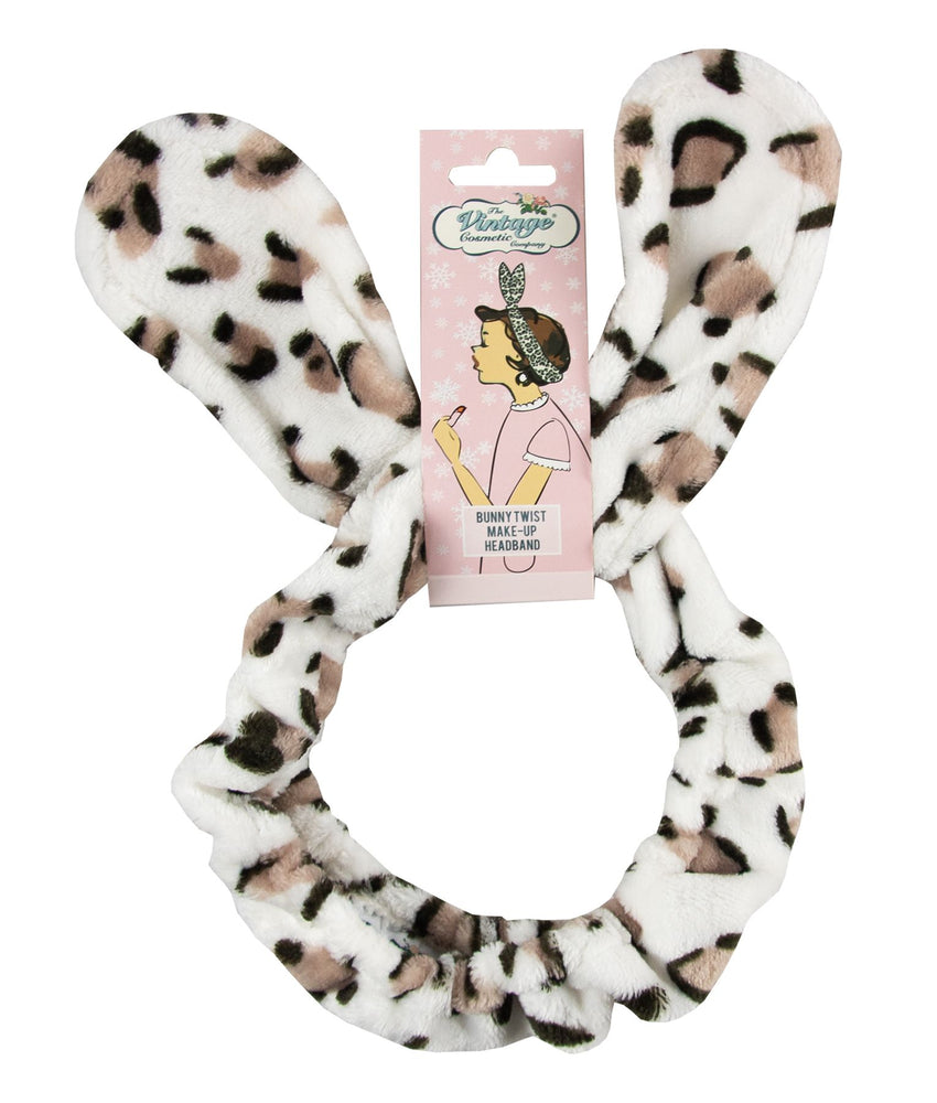 Bunny Twist Make-up Headband Leopard Print in Christmas Packaging