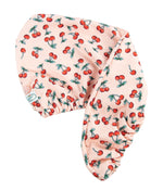 hair turban cherry print