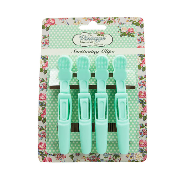 4 Piece Sectioning Clips Soft Touch Mint