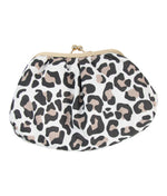 Cosmetic Clutch Bag in Leopard Print