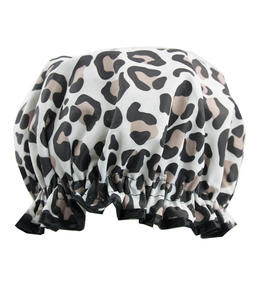 leopard print shower cap
