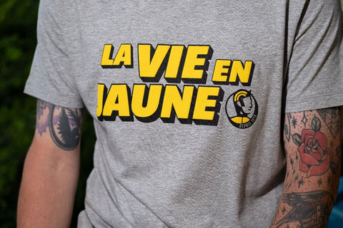 La vie en jaune cycling T-shirt