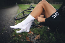 Let's get Lost cycling socks White