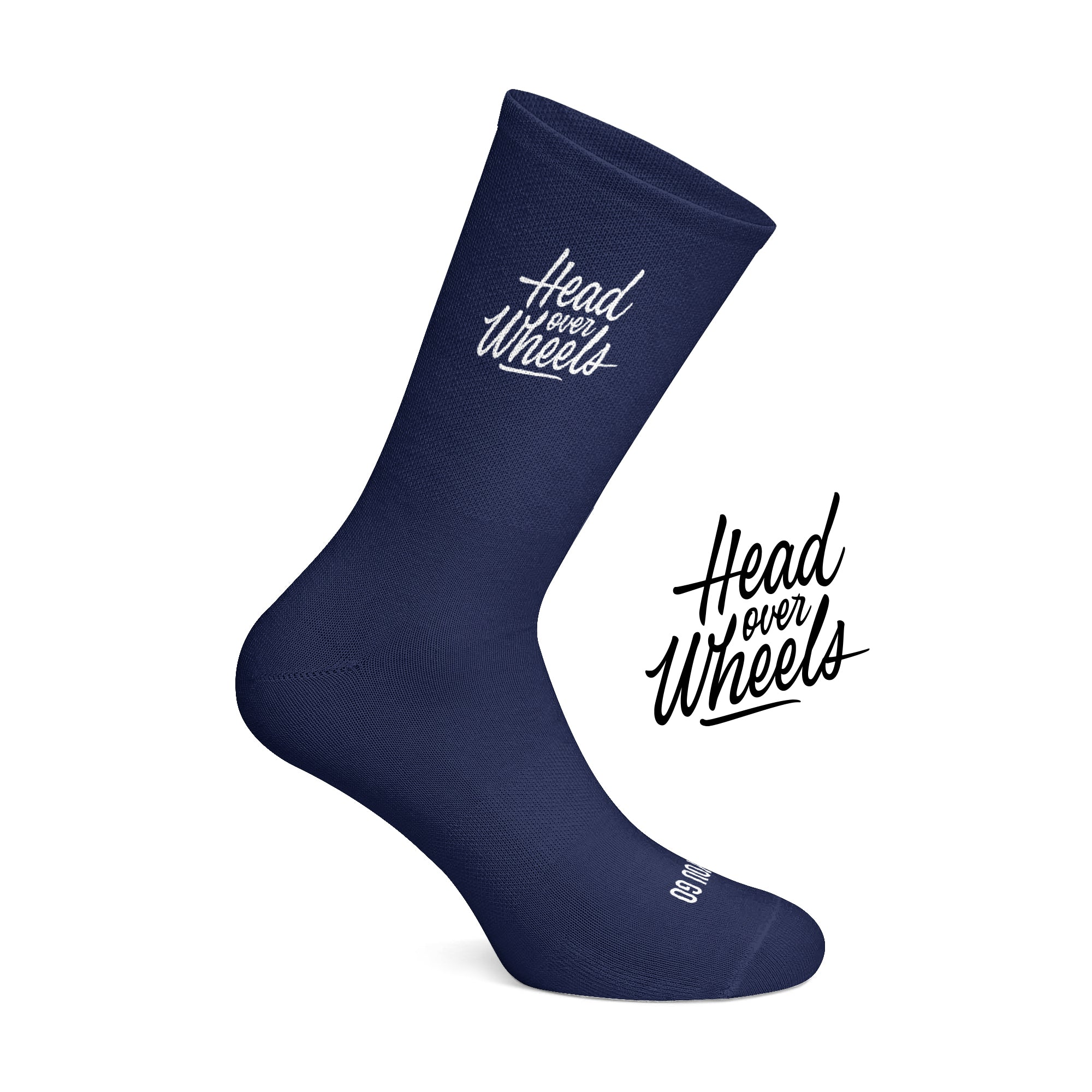 Head over Wheels cycling socks Navy