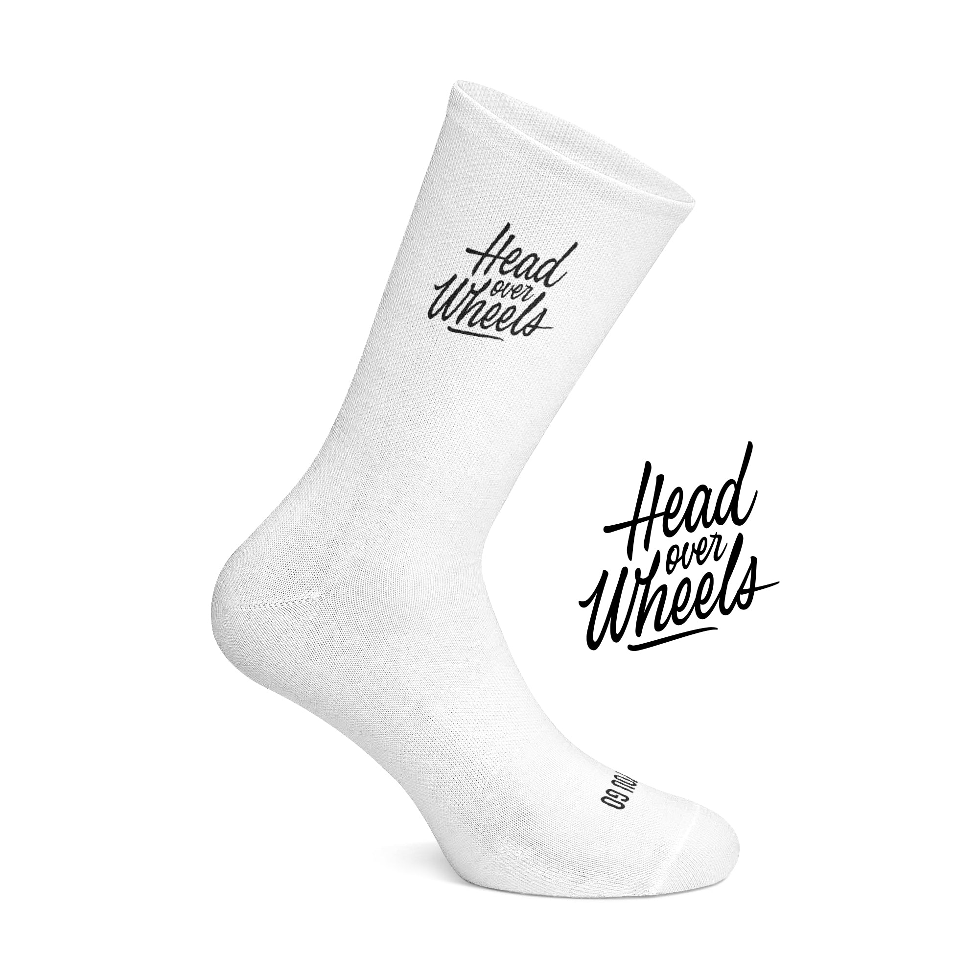 Head over Wheels cycling socks White