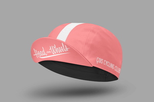 Gorra ciclista Head over Wheels (rosa)