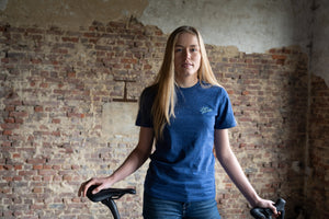 Let's get lost cycling T-shirt (dark blue)