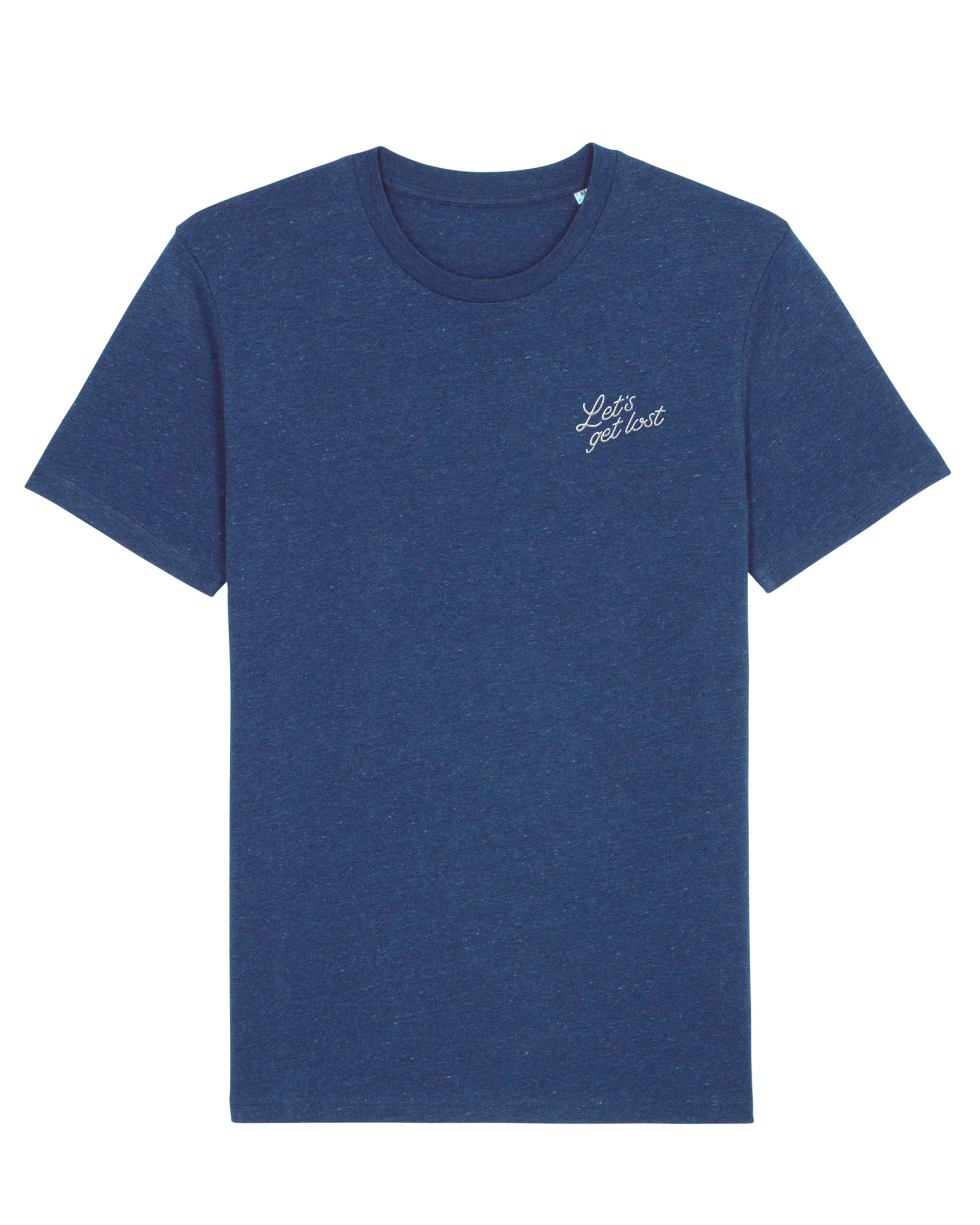 Let's get lost cycling T-shirt (mid blue)