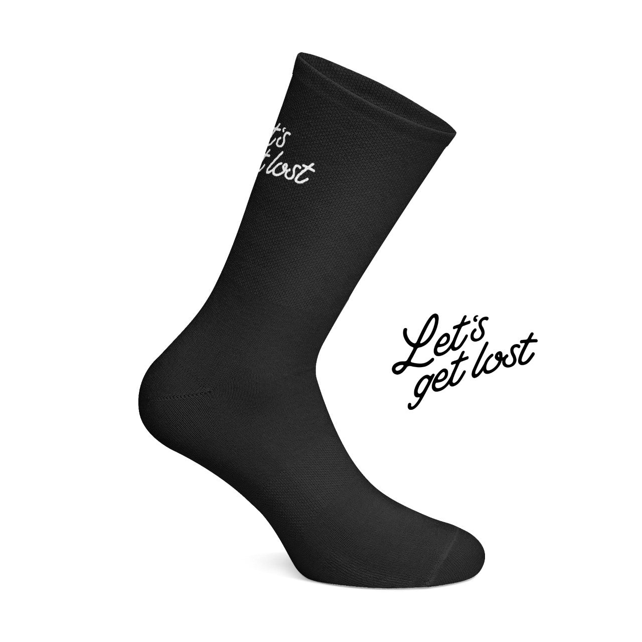 Let's get Lost cycling socks Black