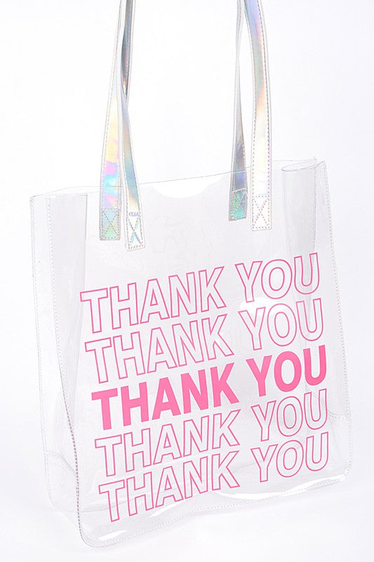 large plastic thank you purse