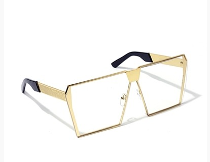 Gold frame Oversized Square glasses