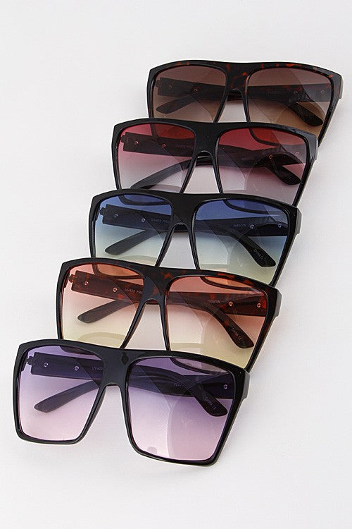 large retro colored shades