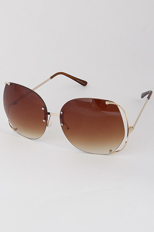 Brown Oversize 100% UV Protection Sunglasses