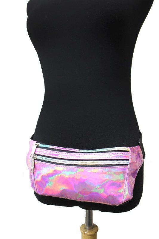 Extra large Metallic Retro Fanny Pack