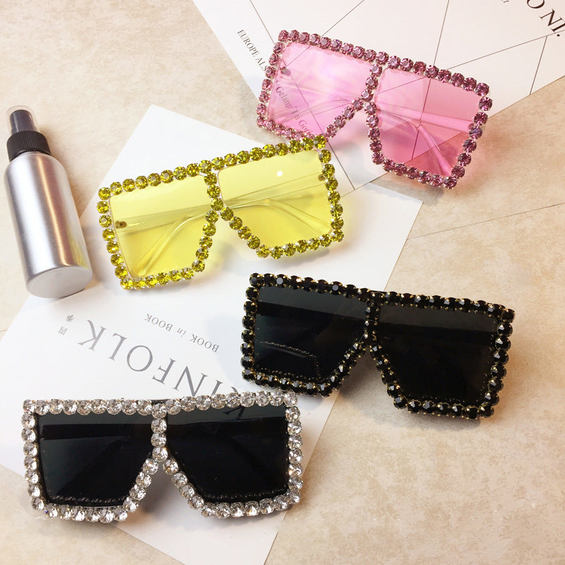 square oversized studded frames