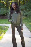 Fall For Me Olive Jogging Set