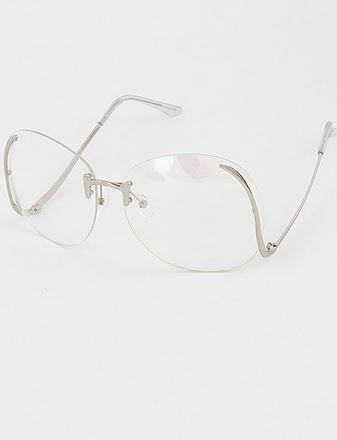 Oversized clear sunglasses