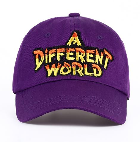 Purple Different World Logo Cap
