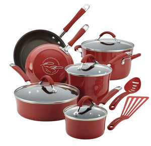 Rachael Ray 12pc Cookware Set - Cranberry 16339